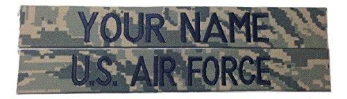 Navy Branch Tape (2 pieces ABU Name Tape & US Air Force USAF Tape, Sew-On (without Fastener))