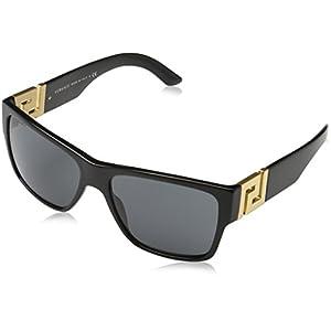 Versace Men's VE4296 Sunglasses Black/Gray 59mm
