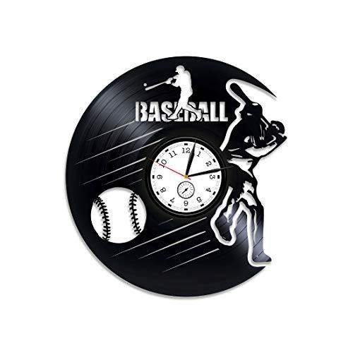 - Kovides MLB Baseball Vinyl Clock Baseball Gift for Man Baseball Clock Sport Gift Baseball Vinyl Wall Clock Baseball Vinyl Record Wall Clock Sport Clock Baseball Team Gift Baseball Wall Clock Large
