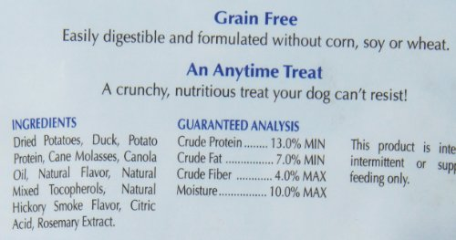 Natural Balance L i t  Limited Ingredient Dog Treats, Grain Free, Potato &  Duck Formula, 28-ounce