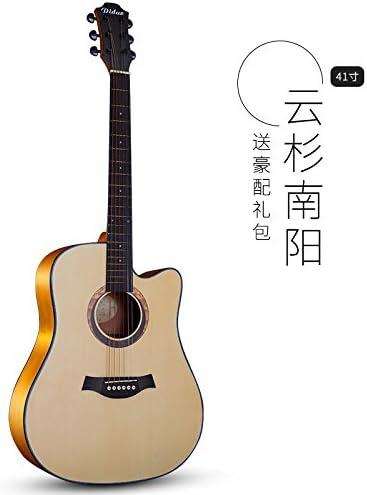 X-XIN Un Principiante Novato Guitarra Acústica, Guitarra Folk 40 ...