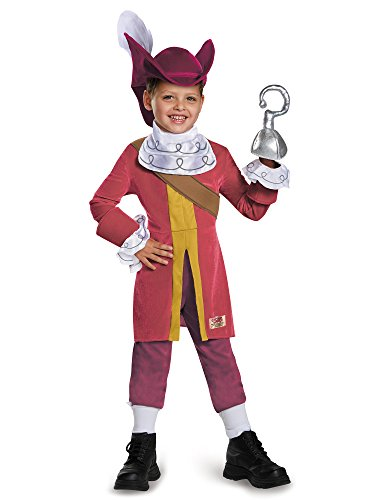 Captain Hook Deluxe Costume, Medium (3T-4T)