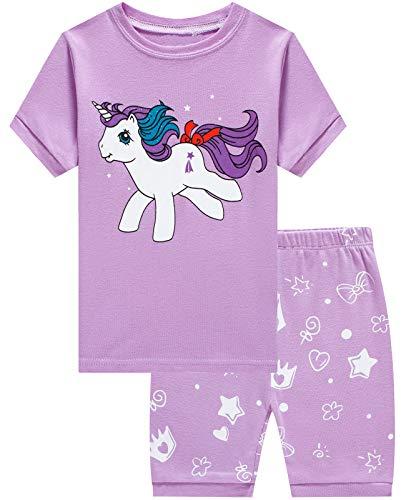 Dolphin&Fish Girls Pajamas 100% Cotton Summer Short Set Toddler Clothes Kids Pjs Sleepwear Size 14 -