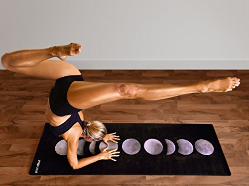 Moon Mat - Moon Phases Mat - Non-Slip Hot Yoga Mat Machine Washable All Purpose Printed Yoga Mat Extra Thick/Extra Long Best Grip