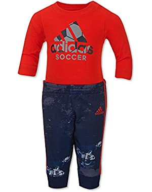 Little Boys` Game Changer 2-Piece Bodysuit and Jogger Pant Set