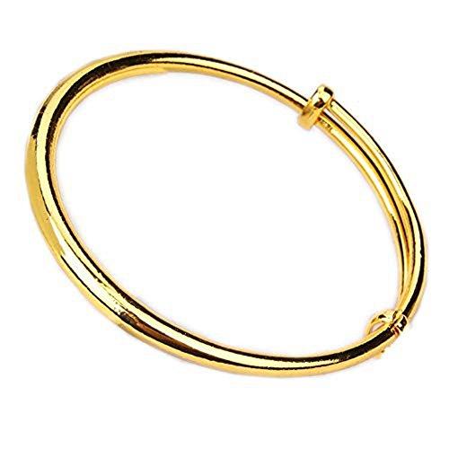 (loyoe jewelry Womens/Mom/Baby Children Expandable Blank Bangle Adjustable Charm Bracelet (Bangle for Mom))