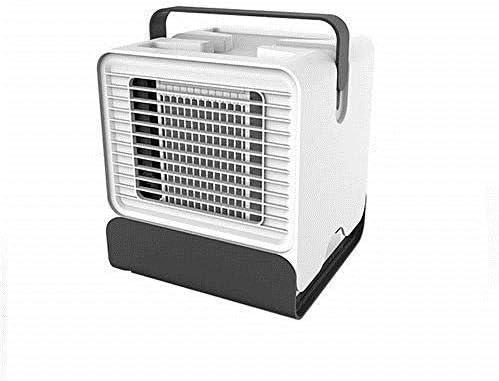 Mini ventilador de aire acondicionado portátil alimentado por USB, refrigerador de aire de mesa de escritorio Sistema de enfriamiento Velocidad del viento ajustable ...