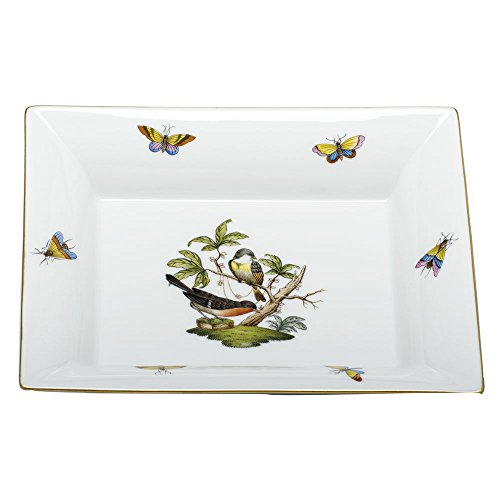 Herend China Jewelry Tray Rothschild Bird by Herend
