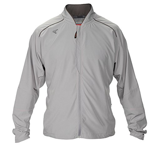 Jacket Stretch Woven - Easton Men's M10 Stretch Woven Full-Zip Jacket, Grey, X-Large