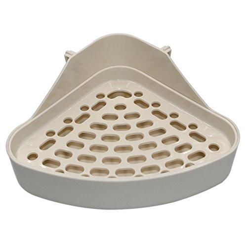 (Md trade Triangle Potty Trainer Corner Litter Bedding Box Pet Pan for Small Animal/Rabbit/Guinea)