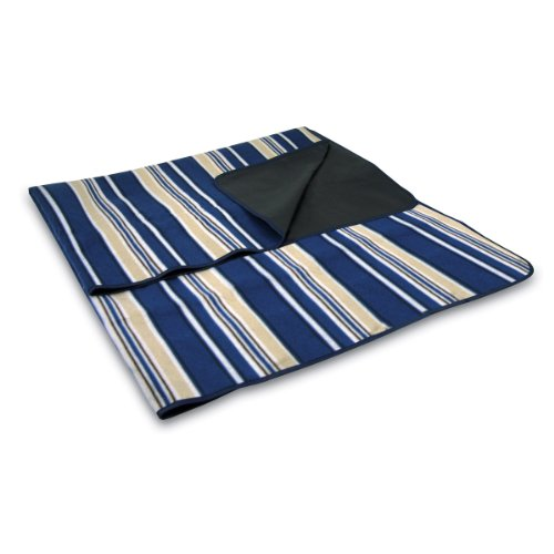 Picnic Time Outdoor Picnic 'Blanket Tote', Blue with Stripes