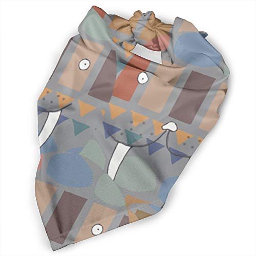 Pet Scarf Dog Bandana Bibs Triangle Head Scarfs Walrus Animal Tooth Accessories for Cats Baby Puppy for $<!--$11.99-->