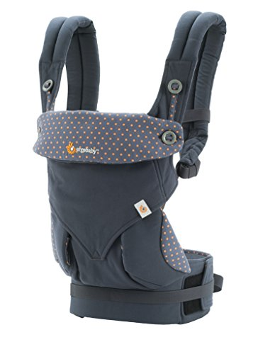 Ergobaby 4 Position 360 Carrier, Dusty Blue with Easy Snug Infant Insert, Grey by ERGObaby (Image #1)