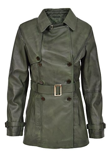 Goods verde mujer Coat para manga Fashion verde 40 larga A1 Trench 4wZ5f