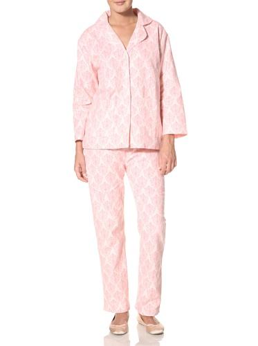 (Aegean Apparel Women's Toile Print Pajama Set, Toile, XL)
