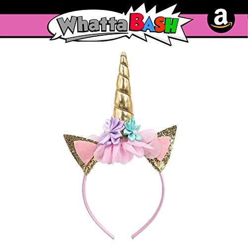 (Princess Birthday Unicorn Theme Headband Hat Horn Set Unicorn Party)