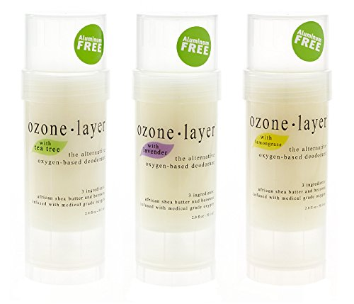 Ozone Layer Deodorant - The All Natural Oxygen Based Deodorant (Essential Oils 3-pack)