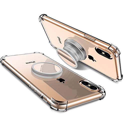 Miracase iPhone Xs Max case with Stand,2019 Stress Relief Anxiety Toys/Mirror/Magnetic Protective Soft TPU Kickstand Case Cover Compatible with iPhone Xs max 6.5''- Clear