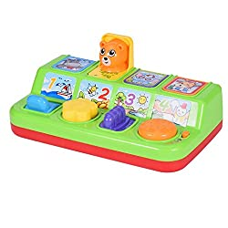 Chranto Interactive Pop-up Animal Toys with Music, Animal Sounds and Lighting, Learning