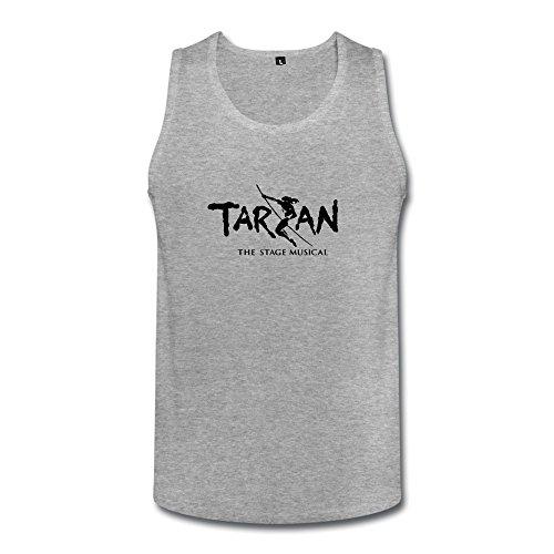 Jiaso Men's O-Neck Funny Tarzan Logo Tank Tops Large (Top 13 Halloween Movies)