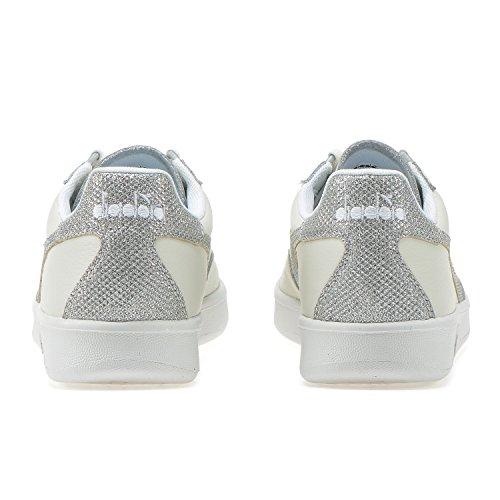 B Gymnastique L Wn Diadora Femme Blanc Chaussures elite argent C0516 De dEqtwY