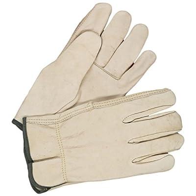 Bob Dale 20-1-1571-10 Premium Grain Leather Cowhide Driver Glove, Medium, Tan
