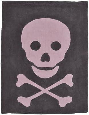 Lorena Canals Alfombra infantil / niños Pirate Skull Rosa 140x200 ...