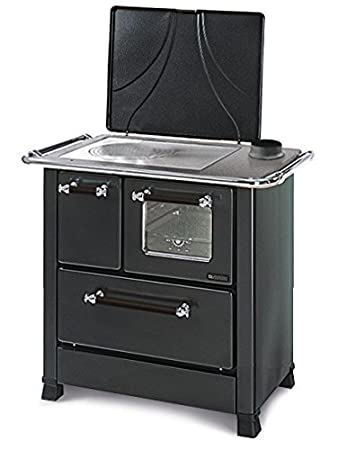 Cocina a leña Romantica 4,5 revestimiento exterior de acero ...
