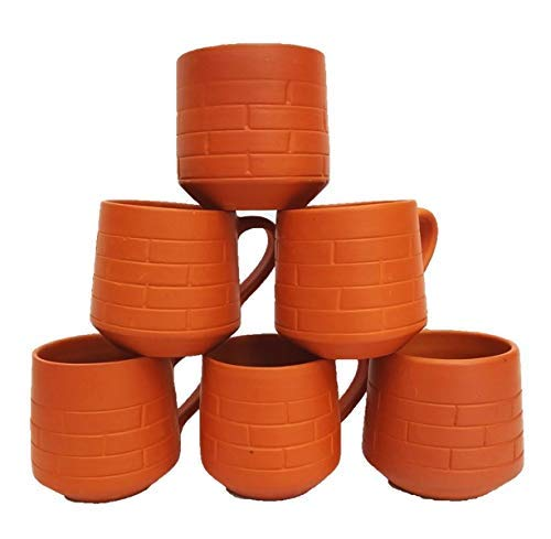 Mud Cups - Odishabazaar Terracotta(Real Mitti) Unglazed Clay Mud Tea Cup - Set Of 6 using for Tea And Coffee 120ml