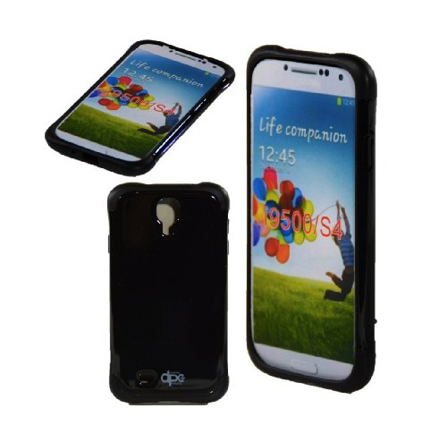 Shockproof Hybrid TPU Case for Samsung Galaxy S4 (Black) - 3