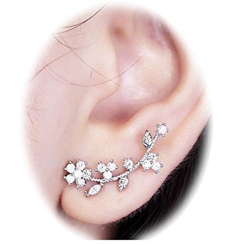Suyi Needle Elegant Zircon Earrings