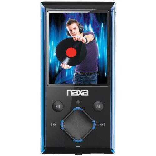 naxa nmv173nbl 4gb 1.8 lcd portable media player (blue) (naxa nmv173nbl)
