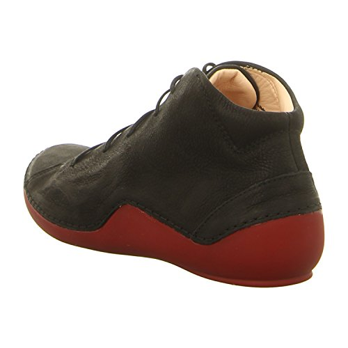 de Mujer para Think Zapatos Cuero de Cordones Negro Twwa65q