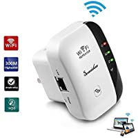 Seaidea Wireless Wifi Repeater Long Range Extender Amplifier 2.4GHz Network Adapter 300Mbps Wireless-N Mini AP Access Point Dongle IEEE802.11N/G/B Mini AP Router Signal Booster