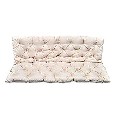 "HomyDelight Chair & Sofa Cushion, Cream Cushion for Swing Chair 59"""