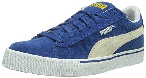 Puma Puma S Lo Core+ - zapatilla deportiva de cuero unisex azul - Blau (limoges-white 02)