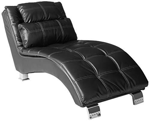 Dilleston Upholstered Chaise Black (Virginia Commons Center)