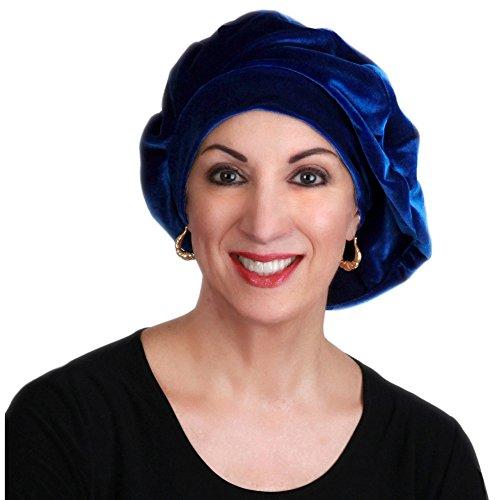 Turban Diva Desgins 702-01 Ladies Velvet Beret-Cobalt Blue