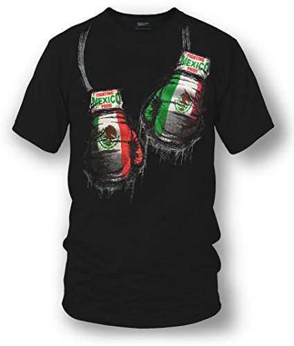 Wicked Metal Mexico Boxing Shirt, Mexican Pride Black