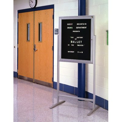 36'' x 30'' Aluminum Frame Sentry Enclosed Letterboard Frame Finish: Satin by Ghent
