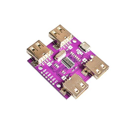 Seajunn CJMCU-204 USB 2.0 HUB 4-Port Controller Module High Speed DC 5V 500mA
