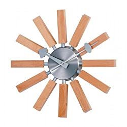 Stilnovo George Nelson Wood Spokes 13.5 in. Wall Clock