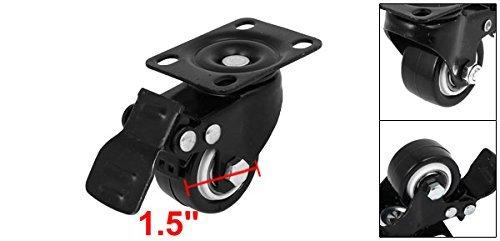 eDealMax 1, 5 pulgadas Dia de goma rodillo Superior placa giratoria de las ruedas giratorias de Freno giratorio Universal: Amazon.com: Industrial & ...