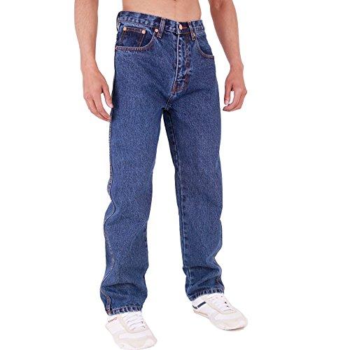 Gamba Fit Da Stonewash Aztec Dritta Regular Resistente Uomo Base Jeans 6fZP8XU