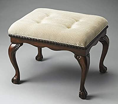Accent Furniture - Norfolk Crescent Upholstered Stool - Vanity Bench - Vanity Seat by Kensington Row Collection