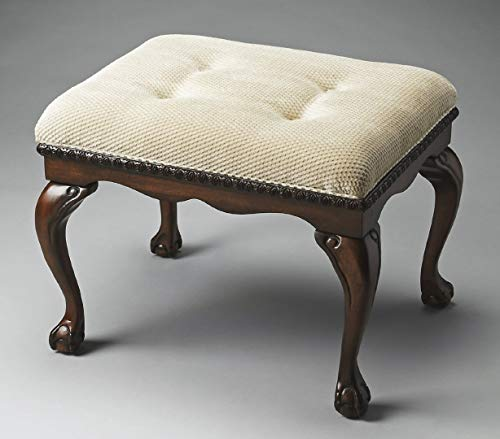 Ball Claw Furniture - Accent Furniture - Norfolk Crescent Upholstered Stool - Vanity Bench - Vanity Seat