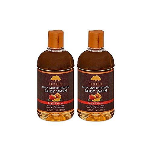 Tree Hut Shea Moisturizing Body Wash 17 oz (Tropical Mango, 2 pack)