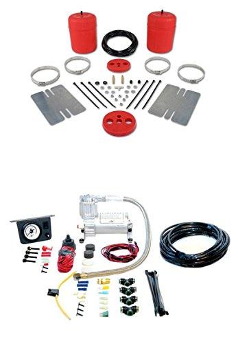 Air Lift 60744/25655 Set of Rear Air Lift 1000 Series w/Load Controller I On-Board Air Compressor Kit for Lemans/Cutlass/Malibu/Skylark