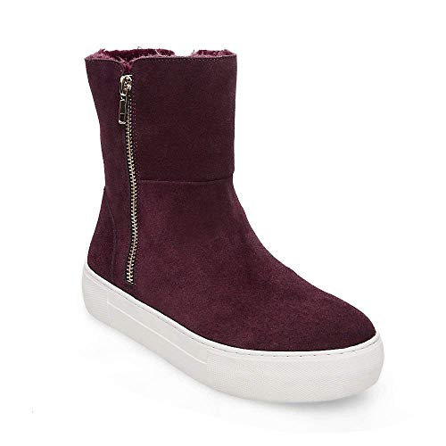 Cold Weather 0 Us Madden Garrson Steve Women's 7 Burgundy Suede nYRxqOw6X