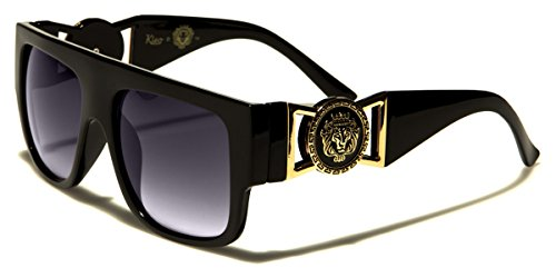 Kleo Flat Top Aviator Gold Buckle Hip Hop Rapper DJ Celebrity - Men Sunglasses Celebrity